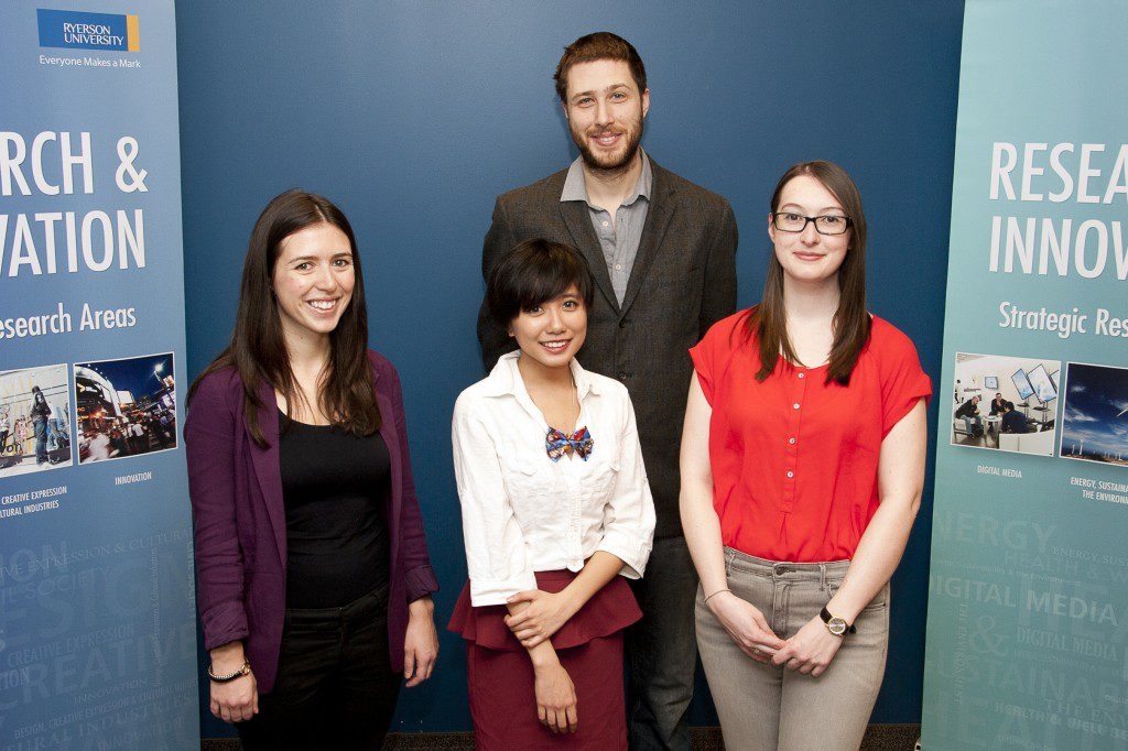 Ryerson SSHRC Storytellers Award winners. Photo courtesy Ryerson University.