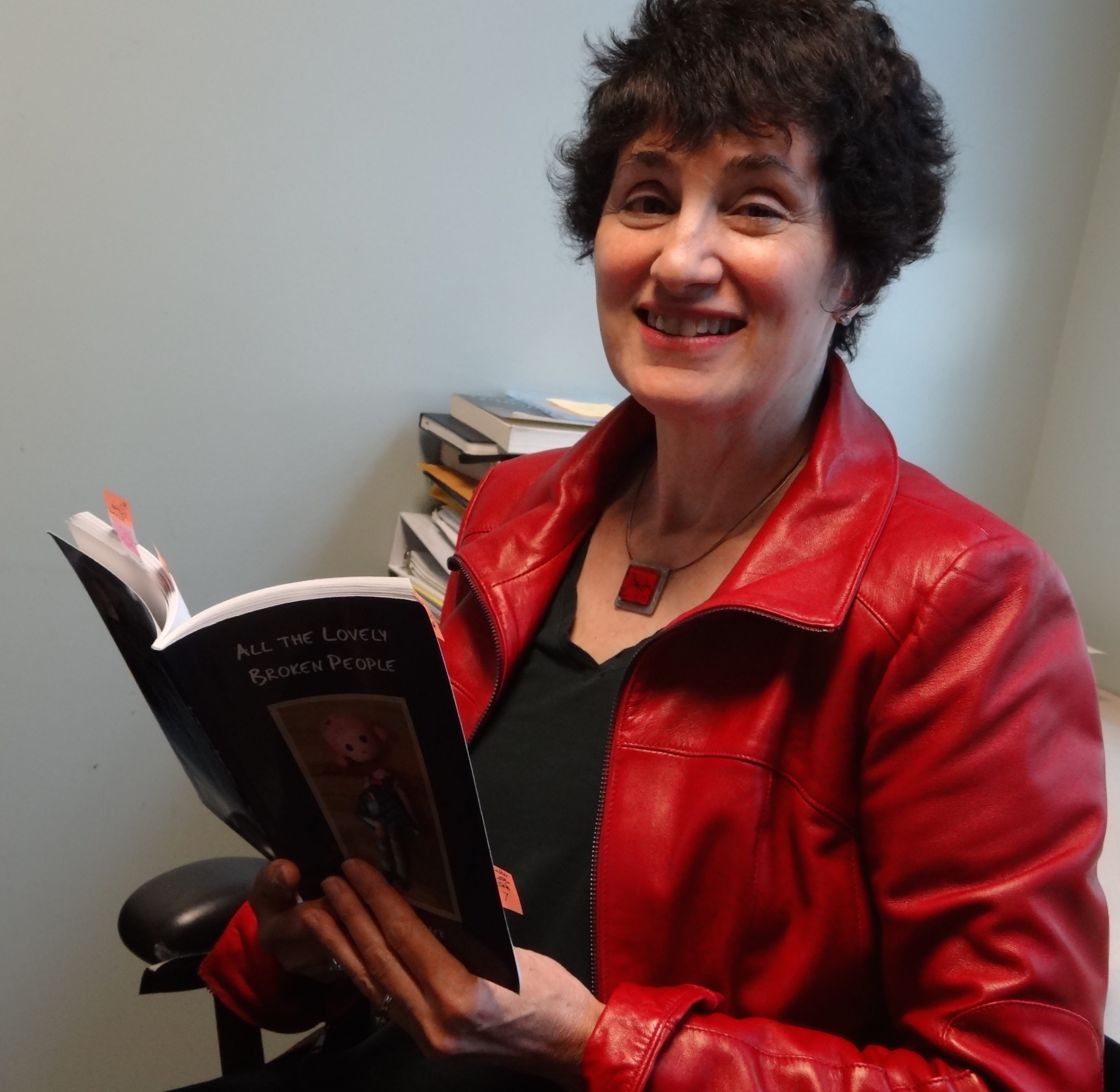 Marsha Barber and her latest collection of poetry, All the Lovely Broken People.