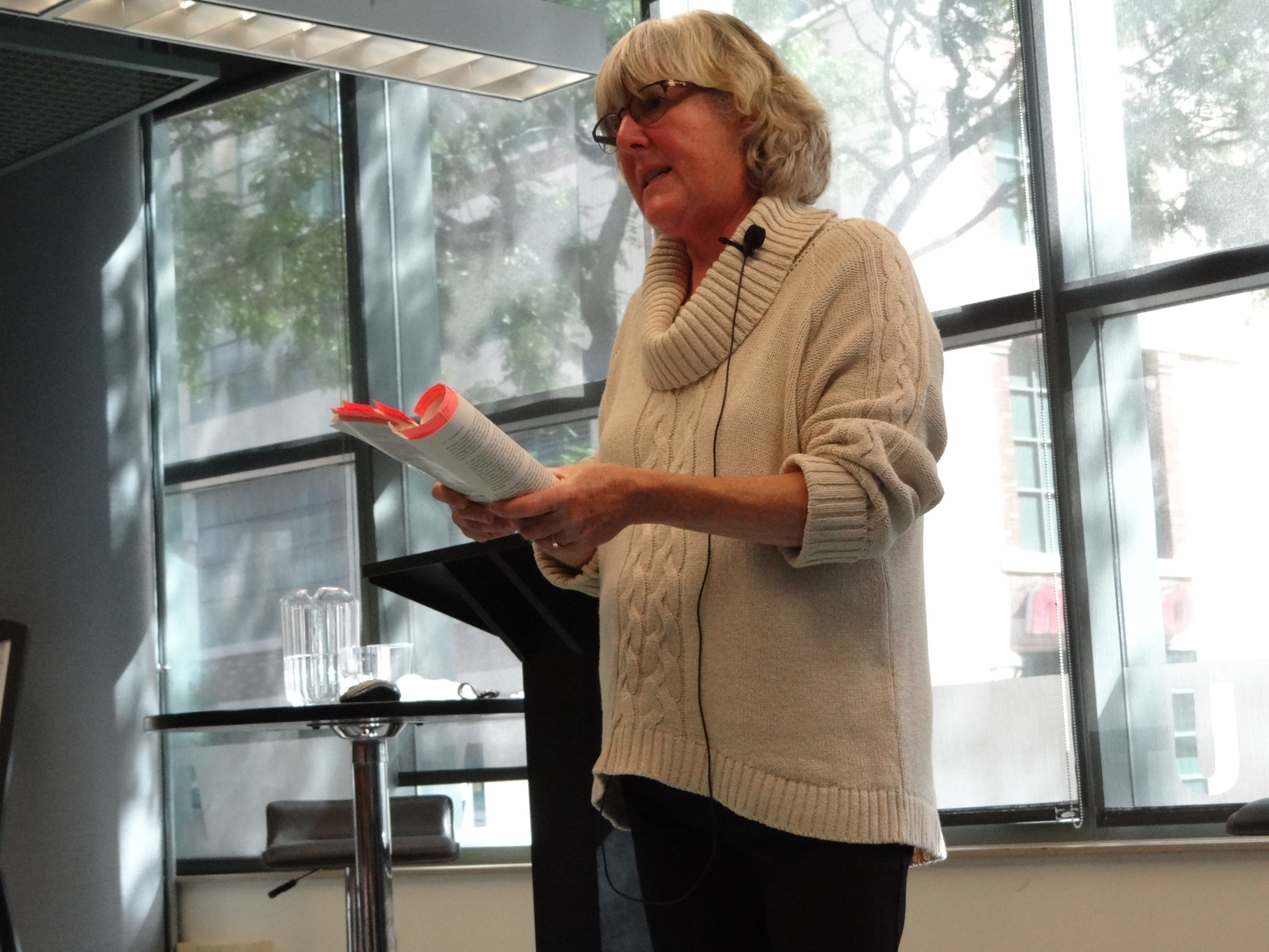 Veteran journalist and author Vivian Smith spoke at the Ryerson University School of Journalism about her recent book, Outsiders Still: Why Women Journalists Love – and Leave – Their Newspaper Careers earlier this month. [Ilina Ghosh]